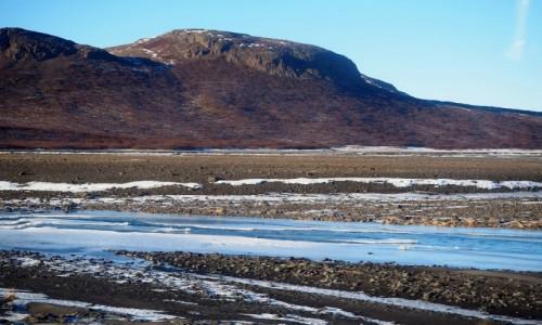Zdjecie ISLANDIA / zachodnia Islandia / okolice lodowca Langjökull / Surowy islandzki krajobraz