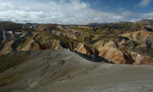 Zdjecie ISLANDIA / - / Landmannalaugar / Na wulkanicznym szlaku