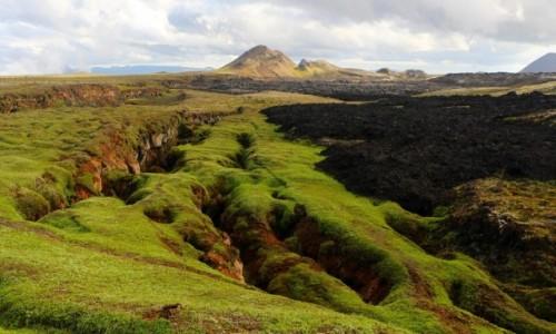 Zdjecie ISLANDIA / . / pole lawowe / Kraina lodu i ognia