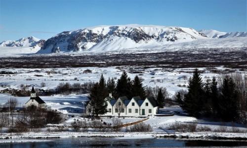 Zdjęcie ISLANDIA / Park Narodowy Thingvellir / Thingvallavatn  / Rezydencja prezydenta