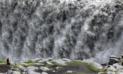 Zdjecie ISLANDIA / Północny Wschód / Deltifoss / Wodospad