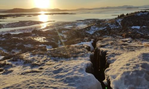 Zdjęcie ISLANDIA / Golden Circle / Þingvellir / Islandia płyty tektoniczne