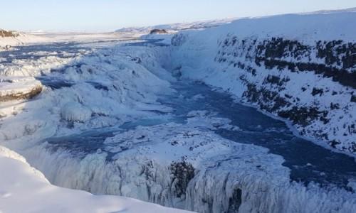 Zdjecie ISLANDIA / Golden Circle / Gullfos / Islandia wodospad Gullfos