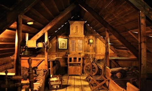 Zdjęcie ISLANDIA / Reykjavik /  Islandzkie Muzeum Narodowe / Wnętrze domu wikingów
