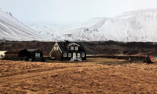 ISLANDIA /  Półwysep Snæfellsnes / Arnarstapi / Pięknie zimą i latem