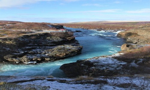 Zdjecie ISLANDIA / Reykjavik / Husafell  / Barnafoss
