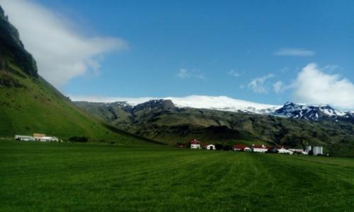 Zdjecie ISLANDIA /  widok Eyjafjallajokull / niedaleko Skogafoss / widokówka