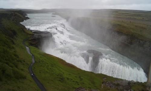 Zdjęcie ISLANDIA / Golden Circle / Gullfos / Wielki wodospad