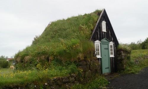 Zdjecie ISLANDIA / Reykjawik / Reykjawik / Domek pod murawą