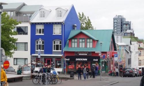 Zdjecie ISLANDIA / Reykjawik / Reykjawik / Kolorowe domki