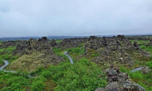 Zdjęcie ISLANDIA / Islandia północna / Dimmuborgir / Islandia - kraina tysiąca planet