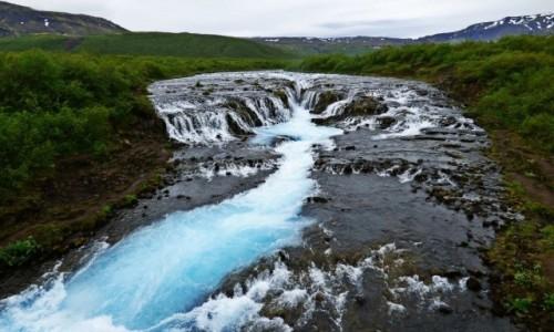 ISLANDIA / Złoty Krąg / Bruarfoss / Islandia - kraina tysiąca planet