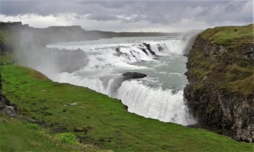 Zdjecie ISLANDIA / Golden Circle / widok z góry / Najpiękniejsze wodospady Islandii: rozległy Gullfoss