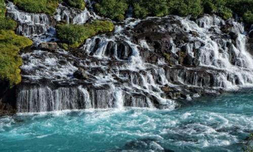 ISLANDIA / środkowa Islandia / Hraunfossar / Ten, który mnie zachwycił...