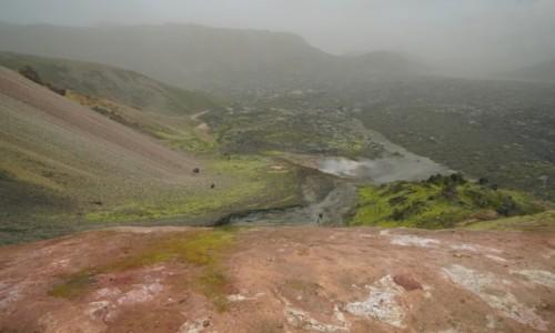 Zdjecie ISLANDIA / Landmanalaugar / Landmanalaugar / Tęczowe Góry we mgle