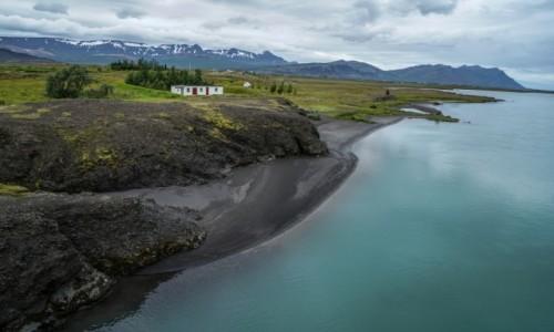 Zdjęcie ISLANDIA / środkowa Islandia / rzeka Hvita / Czarne brzegi Hvity