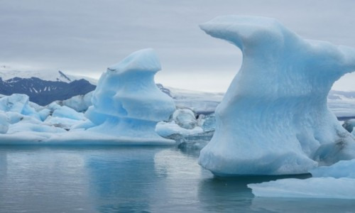 Zdjęcie ISLANDIA / lodowiec Vatnajokull / laguna Jokulsarlon / Zatoka lodowa...