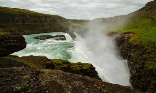 Zdjęcie ISLANDIA / Południe wyspy / Okolice Reykjaviku / Wodospad Gullfoss