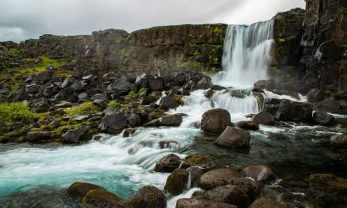 Zdjecie ISLANDIA / Południe wyspy /  Park Narodowy Þingvellir,  / Wodospad Öxarárfoss