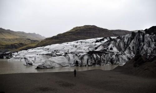 Zdjecie ISLANDIA / Islandia Południowa / Sólheimajökull / Lodowiec Sólheimajökull