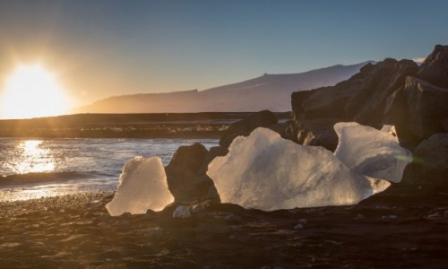 ISLANDIA / Islandia południowa / Jokulsarlon / zimowa Islandia