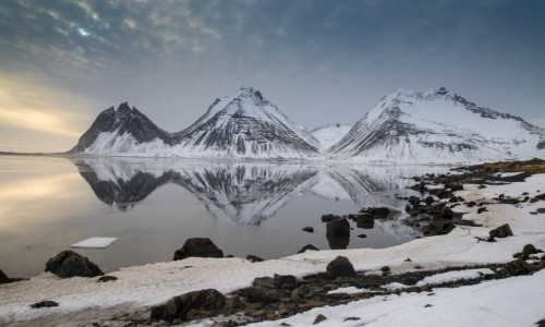 ISLANDIA / Islandia wschodnia / Hvalnes Lighthouse / zimowa Islandia