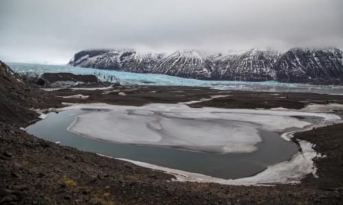 Zdjęcie ISLANDIA / Islandia południowa / lodowiec / zimowa Islandia