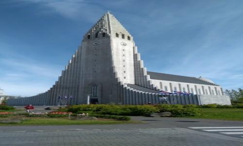 Zdjęcie ISLANDIA / Reykjavik /  . / Katedra Hallgrimskirkja