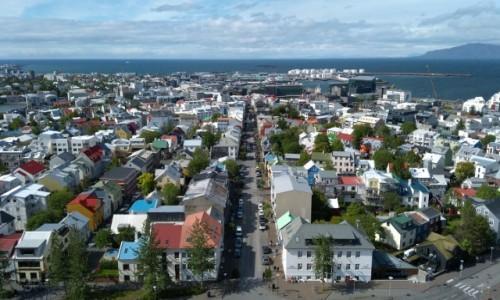Zdjęcie ISLANDIA / Reykjavik /  . / Panorama miasta