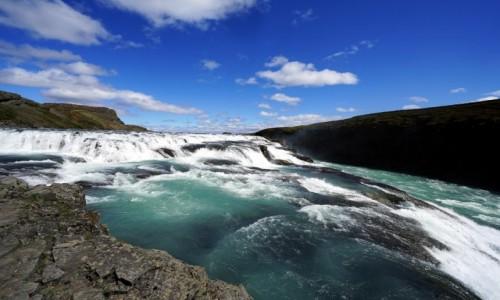 Zdjęcie ISLANDIA / Kanyon na rzece Hvíta / .Gullfoss / Żywioł