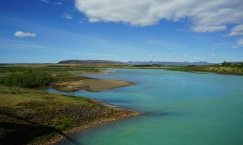 Zdjecie ISLANDIA / Hvíta, czyli biała rzeka / . / Wypływa z lodowca Langjókull