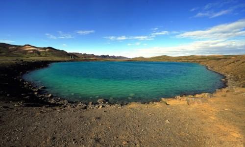 Zdjecie ISLANDIA / Krisuvik / Seltun / Jezioro zielone