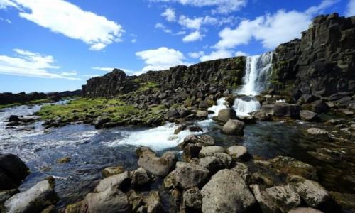 Zdjecie ISLANDIA / Park Narodowy Thingvellir / . / Wodospad Oxararfoss