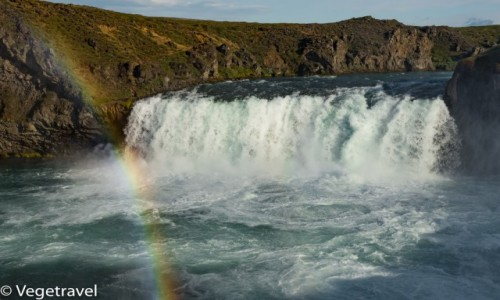 ISLANDIA / Północna Islandia / Godafoss / Wodospad Godafoss