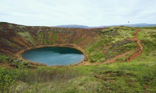 ISLANDIA / Selfoss  / Krater Kerid / Ścieżka