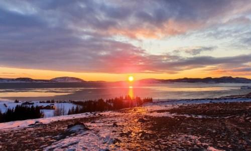 Zdjecie ISLANDIA / Pingvellir / Pingvellir / Zachód Słońca nad Pingvellir Islandia