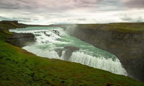 ISLANDIA / Okolice Reykjaviku / Wodospad na rzece Hvita / Wodospad Gullfoss