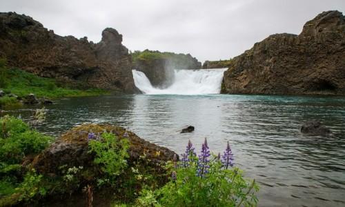 ISLANDIA / Poludnie wyspy / Wodospad Hjalparfoss / Wodospad Hjalparfoss