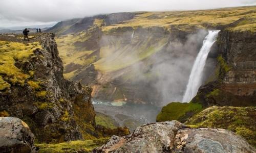 ISLANDIA / Poludnie wyspy / Wodospad Haifoss / Wodospad Haifoss