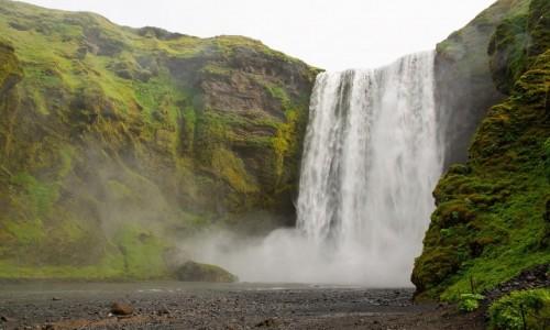 ISLANDIA / Poludnie wyspy / Wodospad Skógafoss / Wodospad Skógafoss