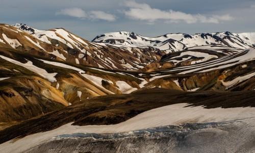 ISLANDIA / Poludnie wyspy / Park Narodowy Landmannalaugar / Tęczowe góry