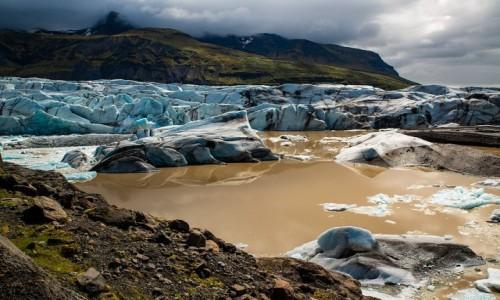 ISLANDIA / Poludnie wyspy / Jezioro polodowcowe Fjallsárlón / Jezioro polodowcowe