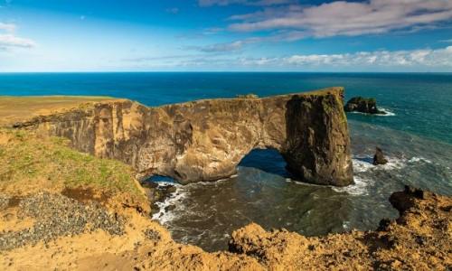 ISLANDIA / Poludnie wyspy / Cypel Dyrholaey / Wielki łuk skalny