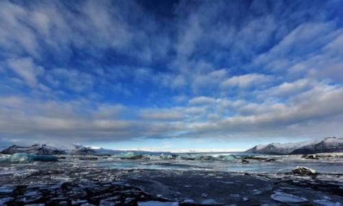 ISLANDIA / Południe / Jökulsárlón Glacier Lagoon / Arktyczny błękit