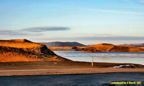 Zdjecie ISLANDIA / Polnocna Islandia / Myvatn / Jezioro Myvatn