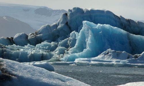 Zdjecie ISLANDIA / Jokulsarlon / Islandia / Lodowa laguna w promieniach słońca