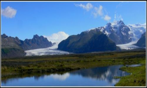 Zdjecie ISLANDIA / Islandia poludniowa / Panorama Skaftafell National Park / Jezory lodowcowe Vatnajokull