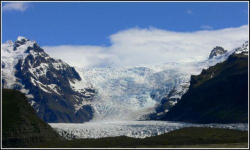 Zdjecie ISLANDIA / Islandia poludiowa / Panorama Skaftafell National Park / Lodowiec