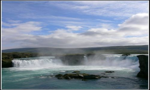 Zdjecie ISLANDIA / Islandia polnocna / Islandia polnocna / Wodospad Godafo
