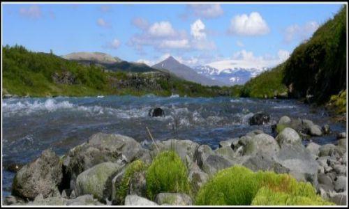 Zdjecie ISLANDIA / Islandia zachodnia / W okolicach lodowca Langjokull / Rzeka Hvita